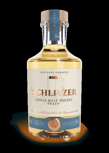 Schlitzer Single Malt Whisky peaty Deutschland 49% 0,5 L
