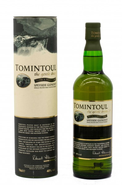 Tomintoul the gentle dram Whith a Peaty Tang Single Malt Scotch Whisky 40% 0,7L