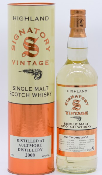 Aultmore 10 Jahre Signatory Vintage Single Malt Whisky 43% vol 0,7 L