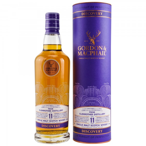 Glenrothes 11 Jahre Discovery NEW RANGE G&M Scotch Whisky 43% vol 0,7 L