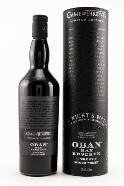 Oban Bay Reserve - GOT Malts Collection The Night's Watch 43% vol 0,7L