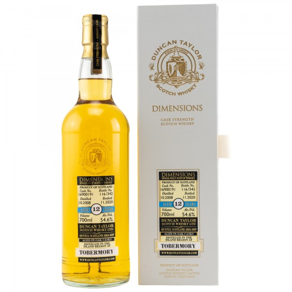 Tobermory 2008/2020 Dimensions Duncan Taylor Scotch Whisky 54,6% 0,7L
