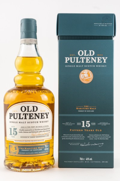 Old Pulteney 15 Jahre Single Malt Scotch Whisky 46% vol 0,7 L