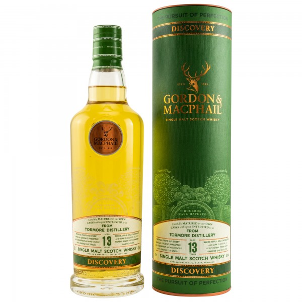 Tormore 13 Jahre Discovery NEW RANGE G&M Scotch Whisky 43% vol - 0,7 L